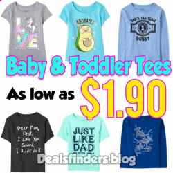 The Children's Place: Baby & Toddler Tees, Just $1.90 (Reg $10)