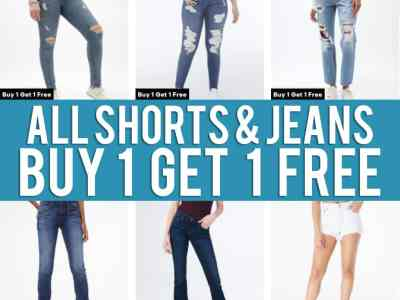 Aeropostale: Jeans and Shorts, Buy 1 Get 1 Free!