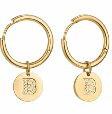 Amazon: 14K Gold Plated Initial Huggie Earrings for $8.54 (Reg. Price $18.99), after code and coupon!