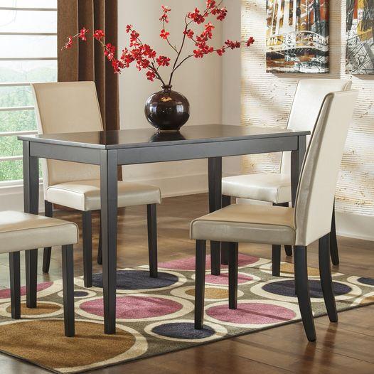 Walmart: Ashley Kimonte Dark Brown Rectangular Dining Table, Just $63.24 (Reg $93.62)