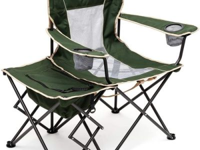 Amazon: Camping Chair with Side Table, Color: Green, Just $39.99 (Reg $79.99) after code!