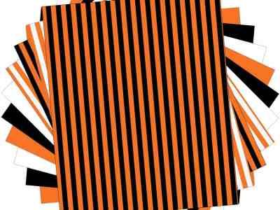 "Amazon: Heat Transfer Vinyl Bundle - 10 Pack 12""""x10"""" Orange Stripe HTV Vinyl for T-Shirts, Just $8.39 (Reg $20.98) after code!"