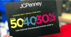 JCPenney Mystery Coupon: up to 50% Off Your Entire Purchase