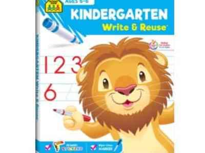 Amazon: Kindergarten Write & Reuse Workbook for $5.99 (Reg. Price $10.99)