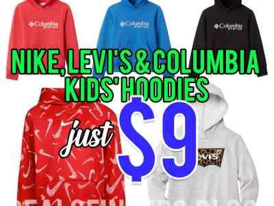 Belk: Nike, levi's & Columbia Kids' Hoodies, Just $9!