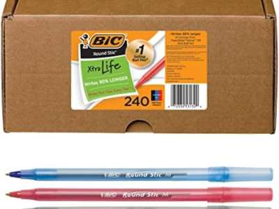 Amazon: Pack of 240 BIC Round Stic Xtra Life Ballpoint Pen, Medium Point – Assorted for $3.85 (Reg. Price $19.27) after code!