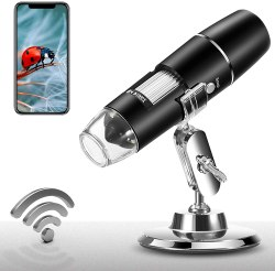 Amazon: FREE Handheld Wireless Digital Microscope Camera With 8 Led Lights!