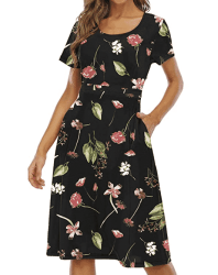 Amazon: Gracyoga Women's Summer Flowy Dress $12.49 (Reg. $24.99)