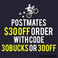 Try Postmates FREE! $30 Off on Orders after code!
