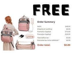 FREE DIAPER BAG!