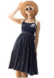 Amazon: Women's Summer Spaghetti Strap Swing Dress with Belt for $7.64 (Reg. $16.98)