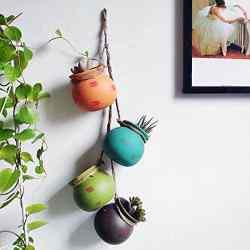 Amazon: 4PCS 4.0 Inch Hanging Succulent Planters Dangling Ceramic Pot $11.99 (Reg. $23.99)