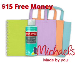FREE $15 TO SPEND ONLINE AT MICHAELS