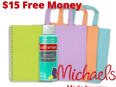 FREE $15 to Spend at Michaels after Cash Back