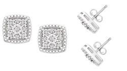 Macy's: Diamond Earrings $30 (Reg. $200)