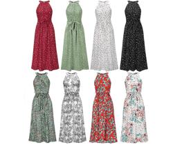 Amazon: Women's Sleeveless Halter Neck Boho Summer Dresses for $15.49 (Reg. $30.99)