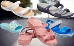 Crocs: Women's Cross-Band Sandals $10.49 (Reg $35)