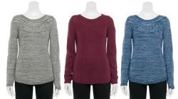 Kohl's: Women's Cable-Knit Sweater $2.40 (Reg. $30)!