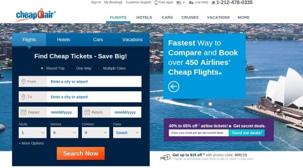Cheapoair.co.uk Discount code