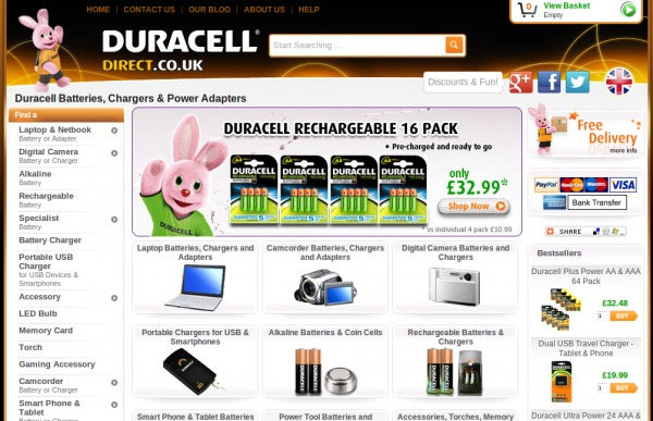 Duracell Direct UK discount promo