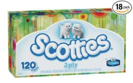 Pack of 18 Boxes of Scotties 2-Ply Facial Tissue Just $13.21– $14.76 + Free Shipping!