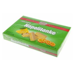 Kras Napolitanke Wafers Biscuits Lemon Orange 330g