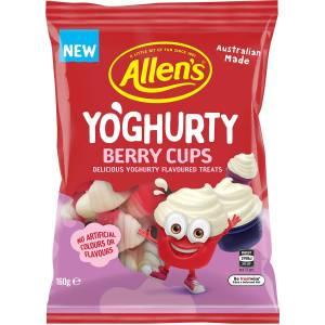 Allens Yoghurty Yoghurt Berry Cups Lollies Bag 160g