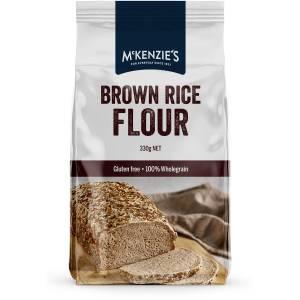 Mckenzies Brown Rice Flour 330g