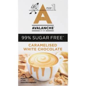 Avalanche Sugar Free Hot Caramelised White Chocolate 10 Pack