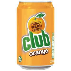 Club Orange Soft Drink Can 330ml