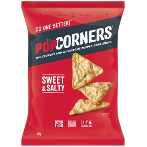 Popcorners Sweet and Salty Popcorn Chips Large Bag 560g
