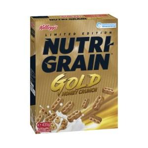 Kelloggs Nutri Grain Gold Honey Crunch Breakfast Cereal 435g