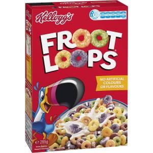 Kelloggs Froot Loops Kids Breakfast Cereal 390g