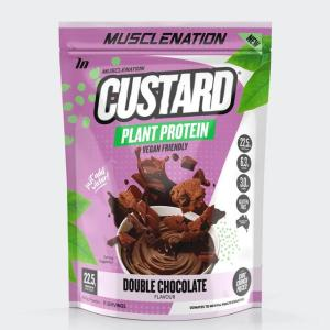 Muscle Nation Custard Plant Protein Powder Double Chocolate 440g
