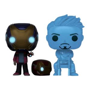 Marvel Avengers Morgan and Tony Stark Hologram Glow Pop! Vinyl