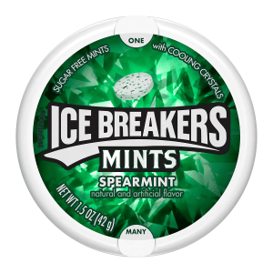 Ice Breakers Sugar Free Mints Spearmint Flavour Tub 42g X 2 Tubs