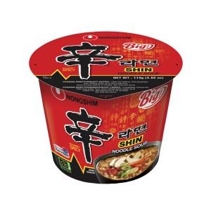 Nongshim Shin Ramyun Big Bowl Gourmet Spicy Instant Noodles Soup 114g X 8 Cups