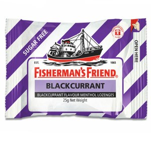 Fishermans Friend Mints Extra Strong Menthol Lozenges Blackcurrant 25g X 12 Units