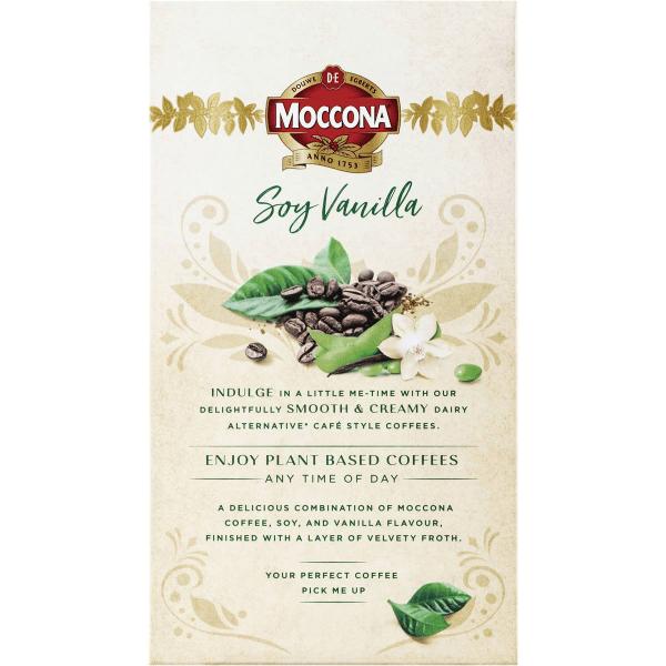 Moccona Coffee Cappuccino Soy Vanilla Sachets 8 Pack