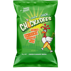 Chickadees Chicken Flavoured Chips Snacks Pack 90g
