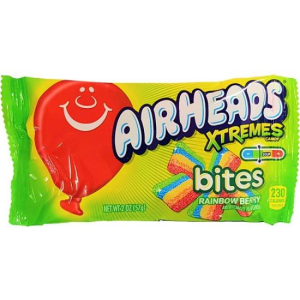Airheads Xtremes Sour Rainbow Berry Bites Candy Lollies Pack 56g X 18 Packs