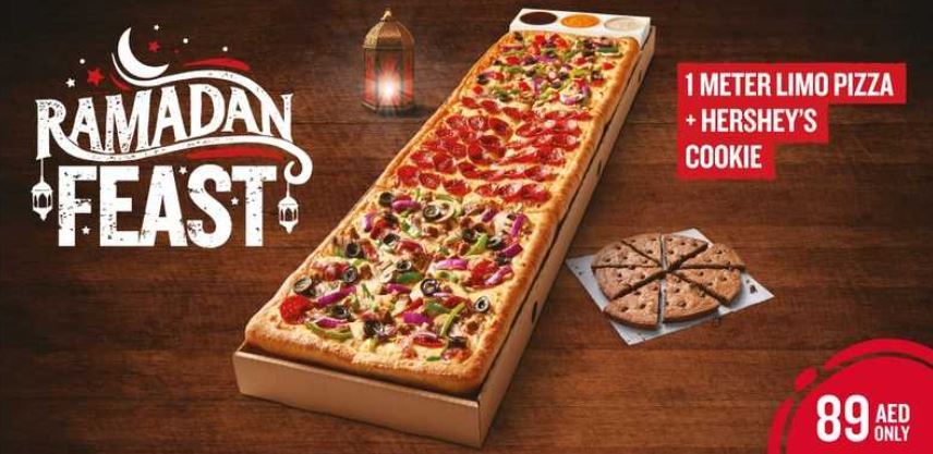 1 meter limo pizza and Hershey's cookie Offer