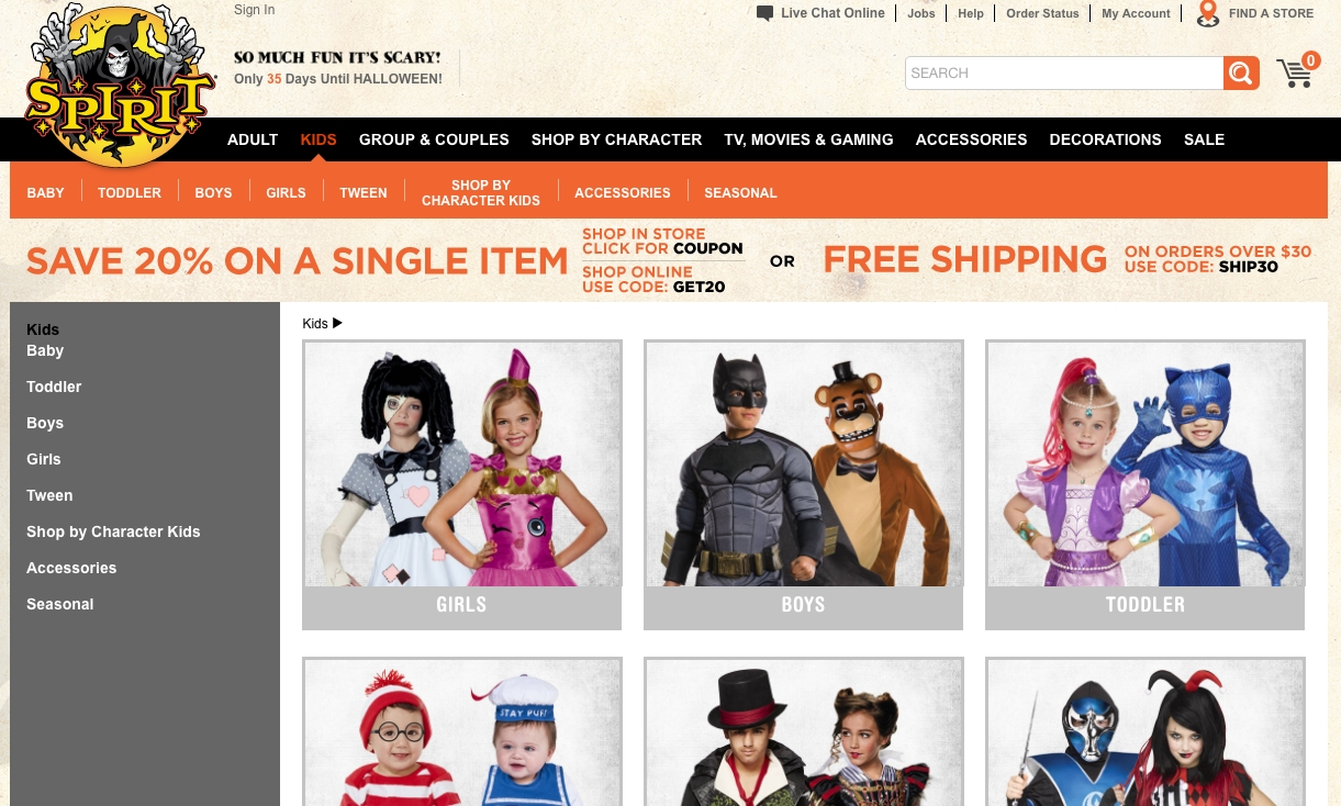 getting the best deal on kids halloween costumes: comparing 7 online