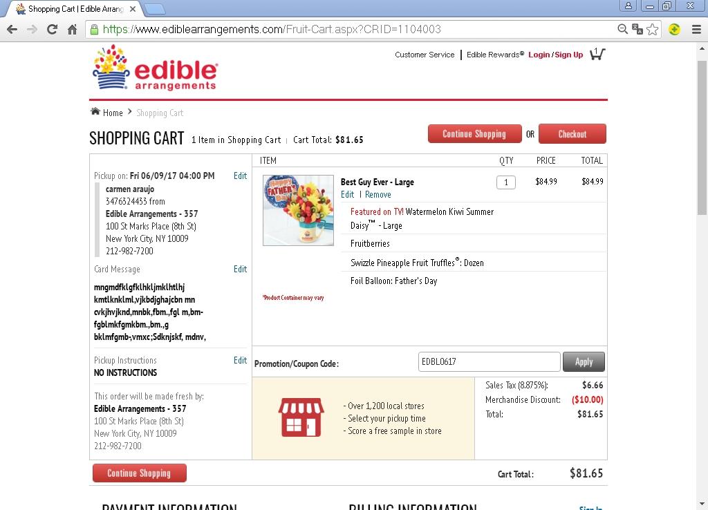 Edible arrangements dubai coupons