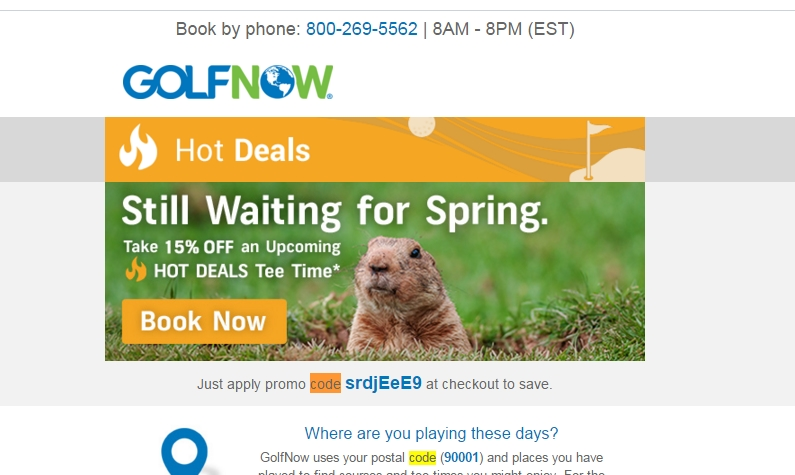 Golfnow coupon codes