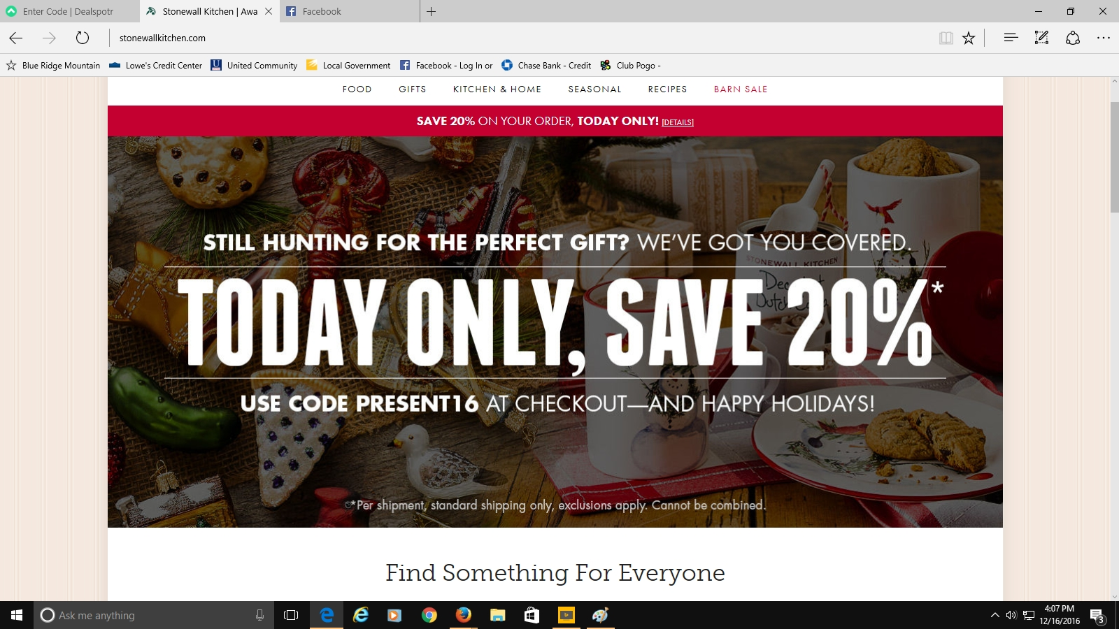 40 Off Stonewall Kitchen LLC Coupon Code 2017  All Feb