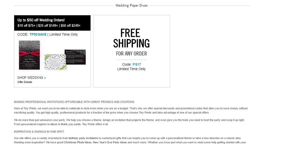 tiny prints free shipping