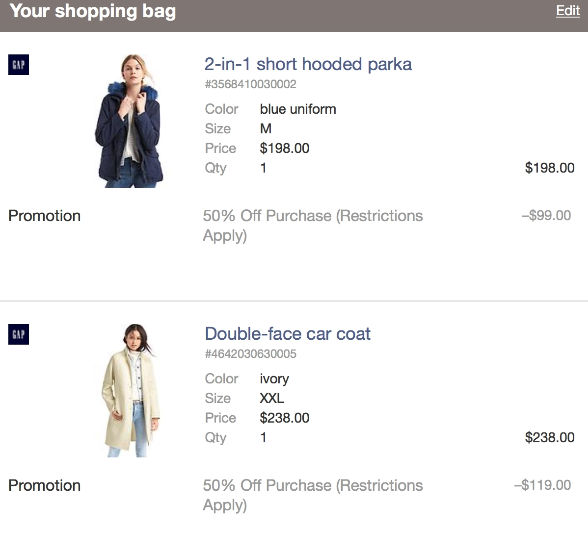 Gap Outlet Store Online Shopping