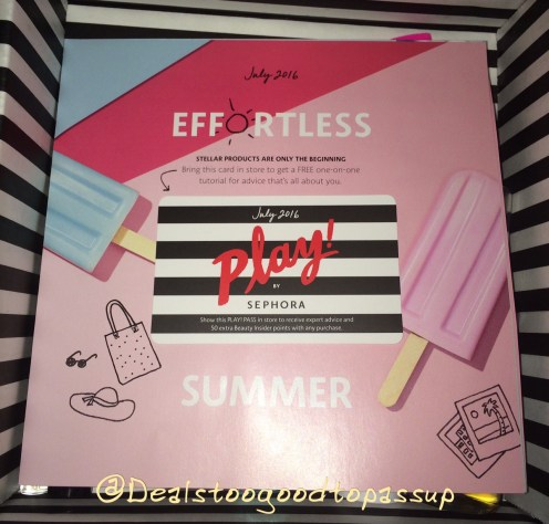 Sephora Play July 2016 4