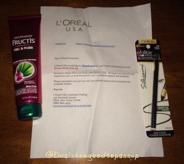L'Oreal Cosumer Testing Comp August 2016